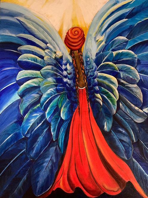 Diva Angel Original Oil Painting