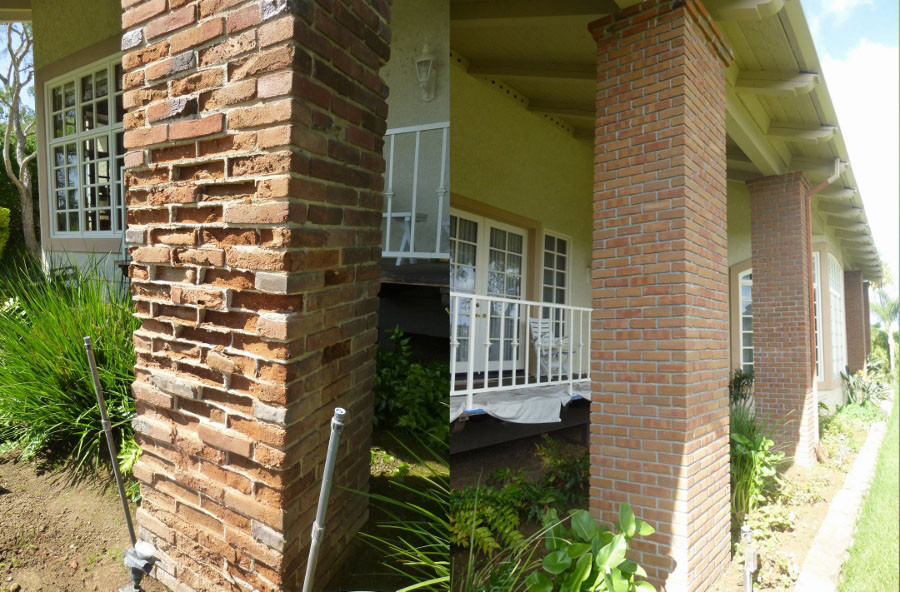 Before-and-after-image-brick-veneer-in-Fairbanks-Ranch