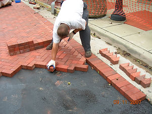 Installing clay brick pavers from Cash B