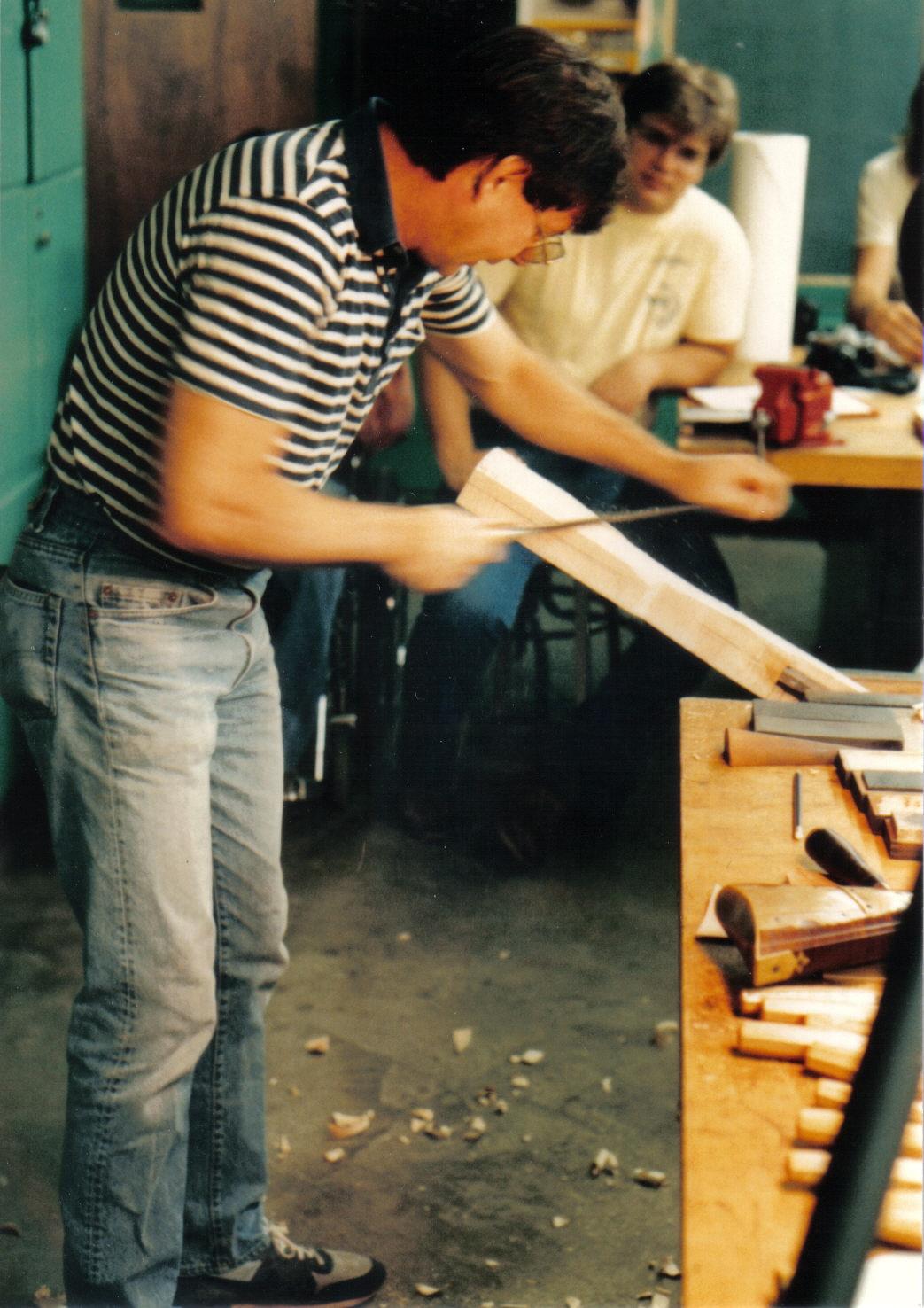 Wallace Gusler rasping stock