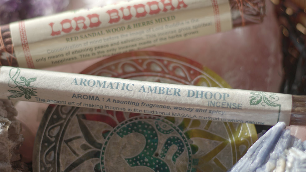 Aromatic Amber Dhoop hand rolled incense