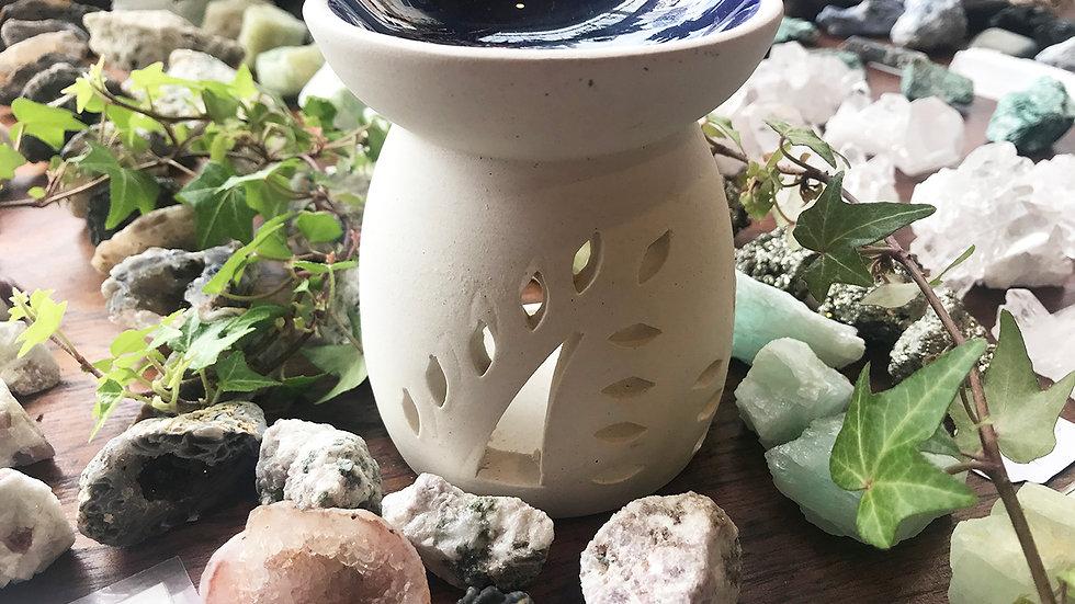 China leaf tea light oil burner