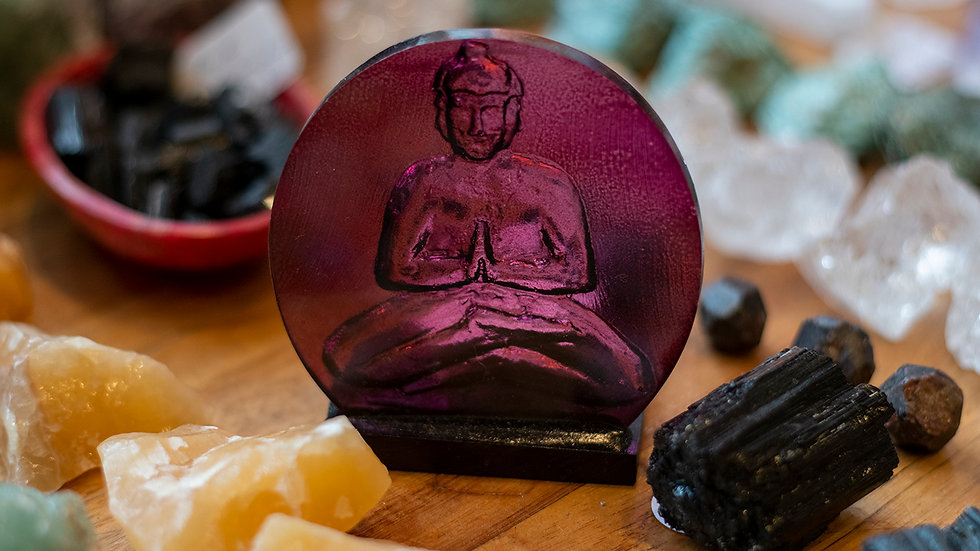 Buddha posed tea light holder
