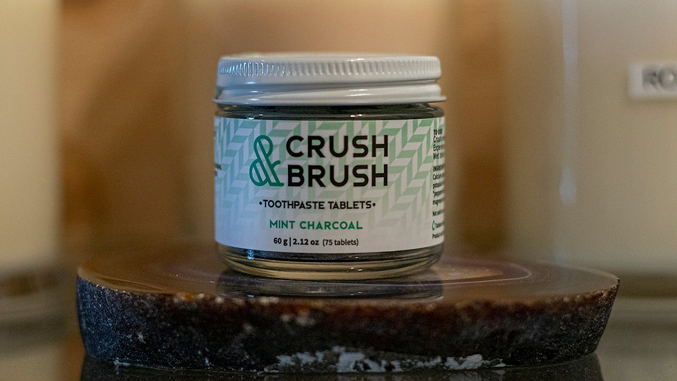 Crush & Brush Mint Charcoal Toothpaste Tablets