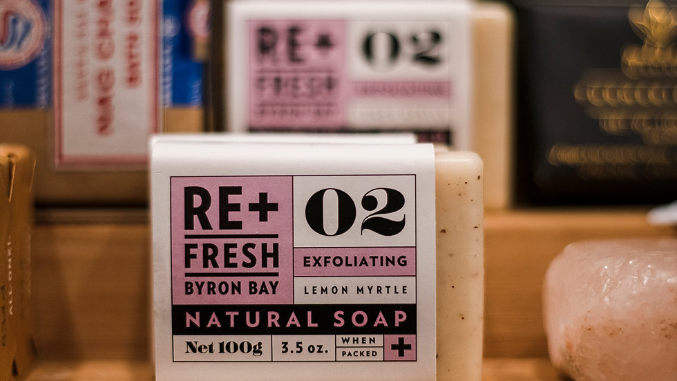 RE+ Fresh Byron Bay Lemon Myrtle Natural Soap Bar
