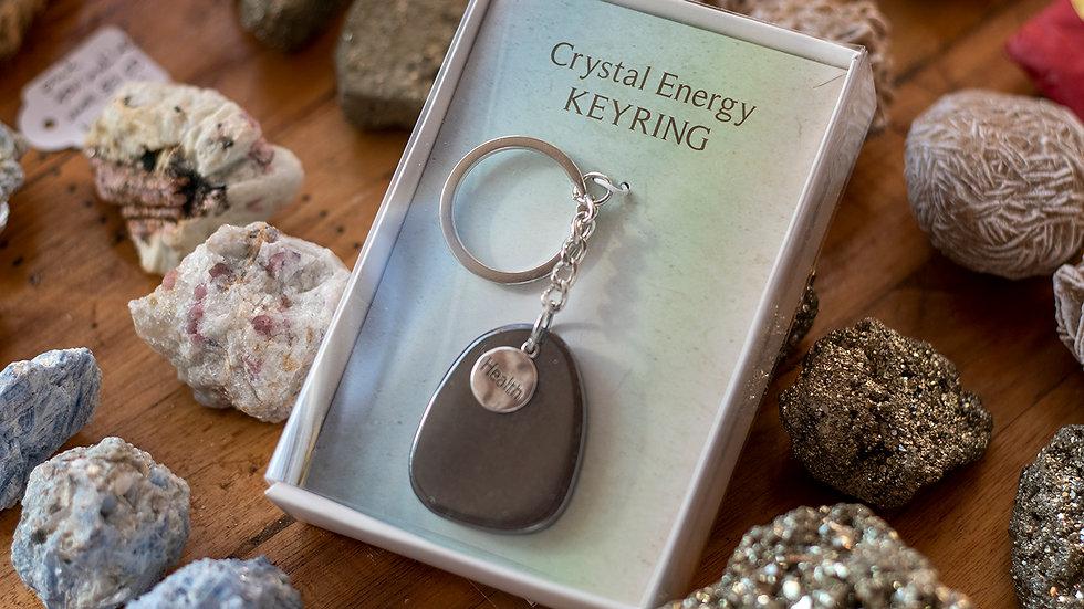 Hematite Crystal Energy Keyring