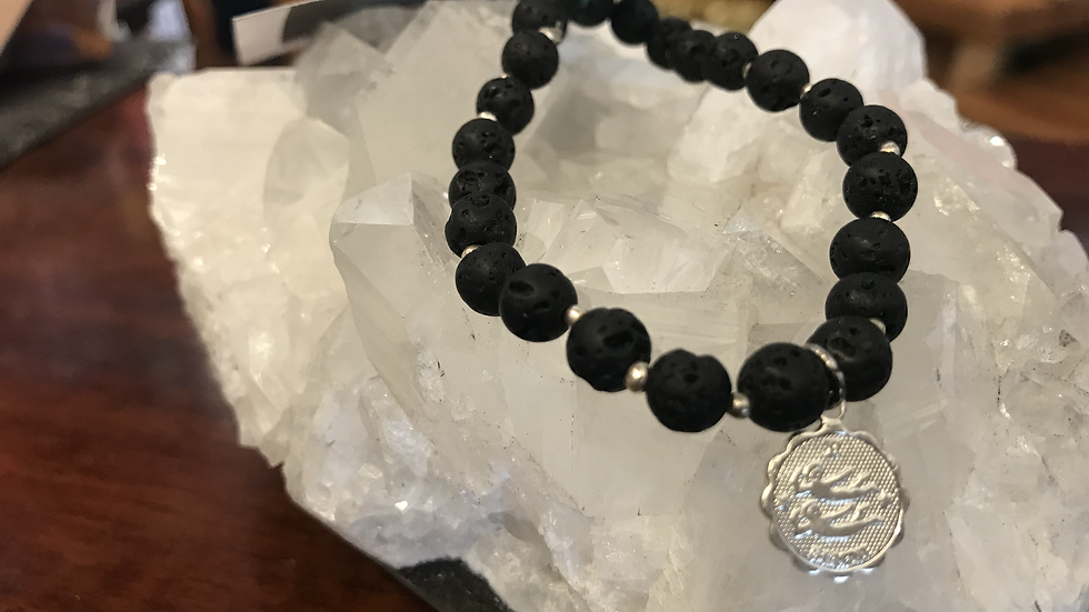 Gemini Lava bead bracelet