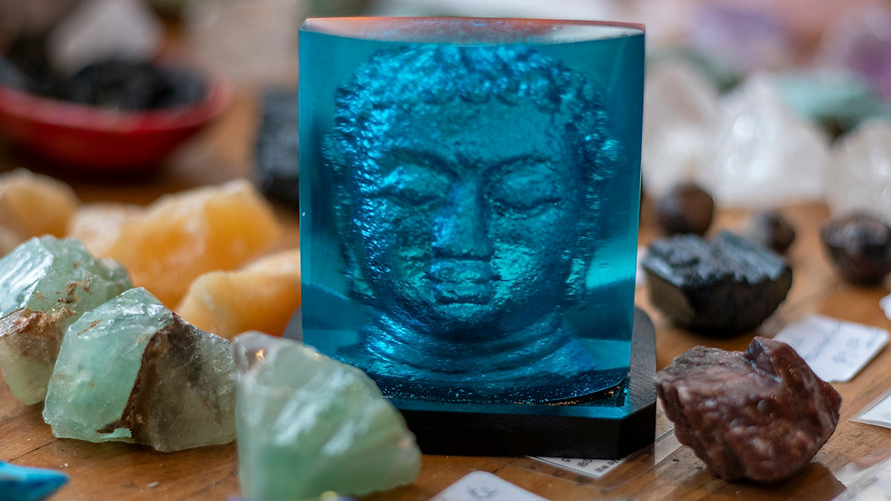 Buddha face tea light holder