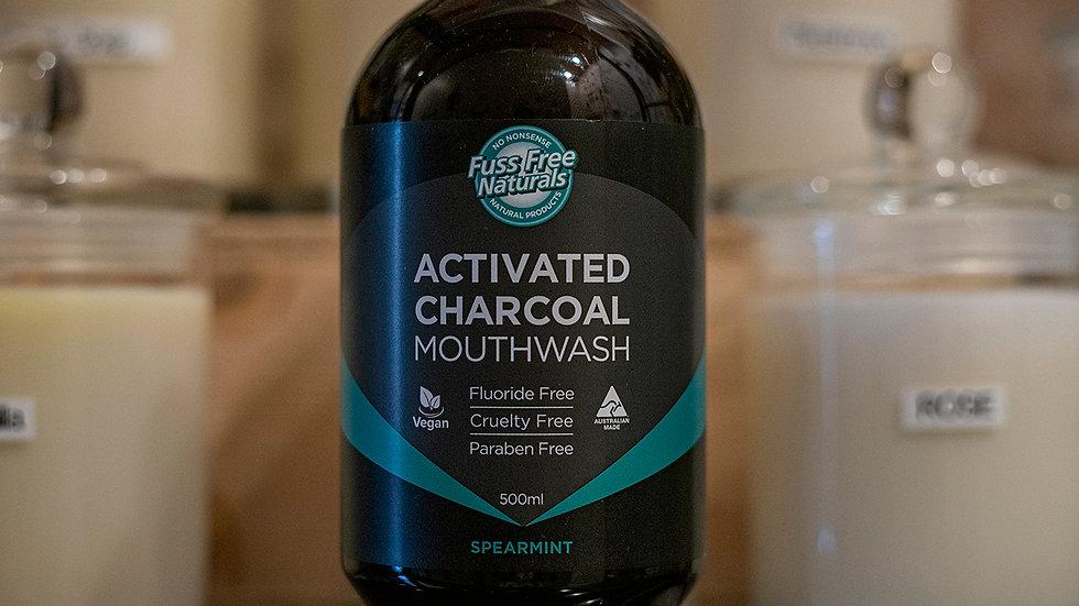Essenzza Activated Charcoal Spearmint Mouthwash