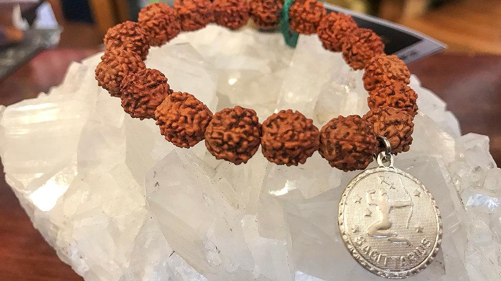 Sagittarius Rudraksha bead bracelet