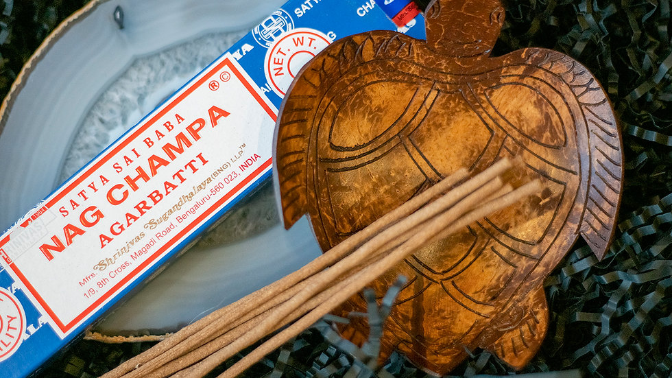 'Turtle' wooden incense holder