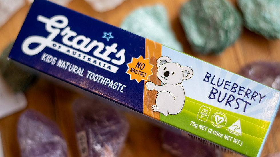 Grants Blueberry Burst Kids Natural Toothpaste
