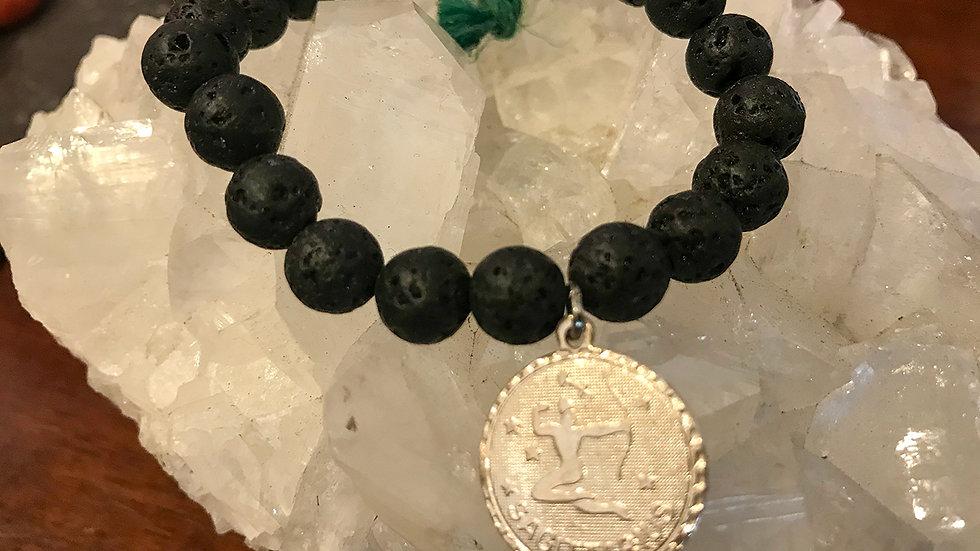 Sagittarius Lava bead bracelet