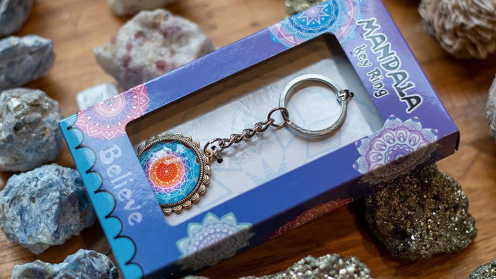 Believe Mandala Keyring