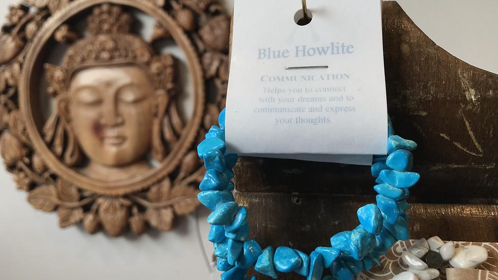 Blue Howlite Gemstone Bracelet