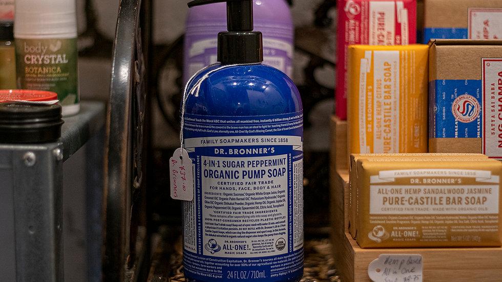 Dr Bonner's Organic Pump Peppermint Soap
