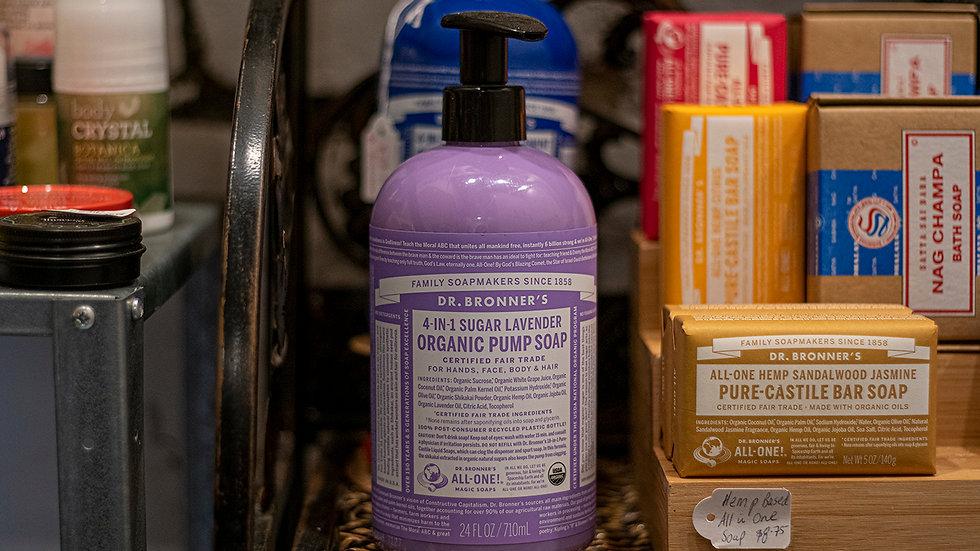 Dr Bonner's Organic Pump Lavender  Soap