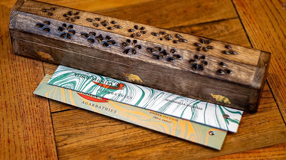 Elephant incense holder box