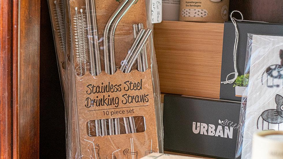 Stainless Steel Drinking Straw Set