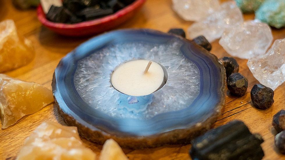 Agate Tea light holder