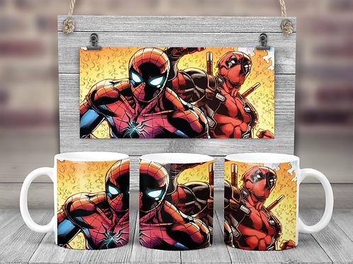 Spiderman and Deadpool Coffee Mug