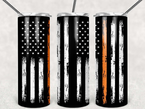 American Flag Thin Orange Line