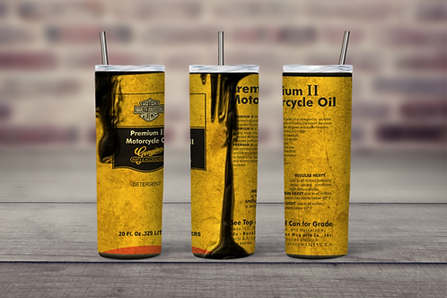 Harley Davidson Oil Can grungy inspired