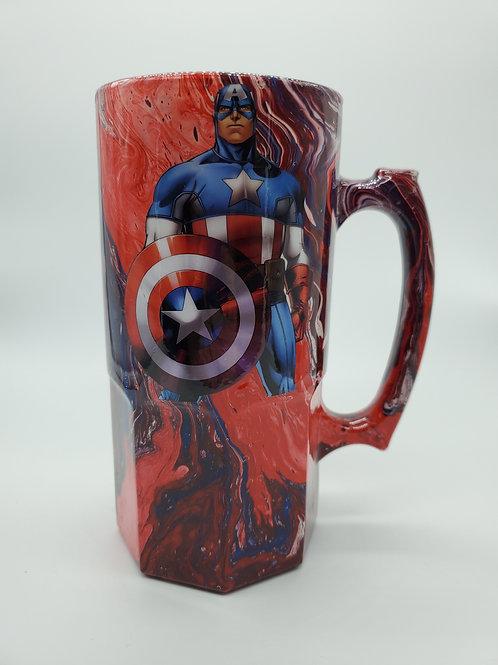 Captain America Nerd Stein
