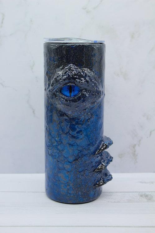 Metallic Blue and Black Dragon