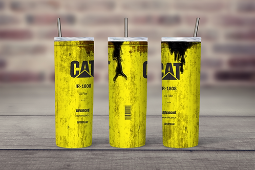 CAT Oil Can grungy inspired