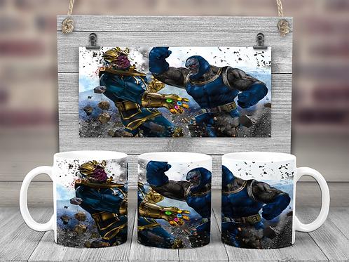 Thanos vs Darkseid Coffee Mug