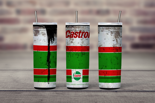 Castrol Oil Can grungy  inspired