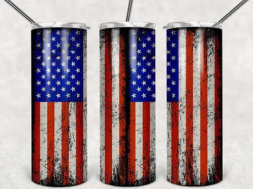 American Flag Grungy