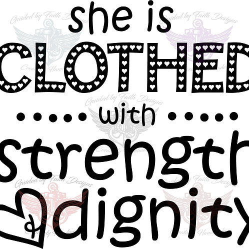 She is Clothed with Strength