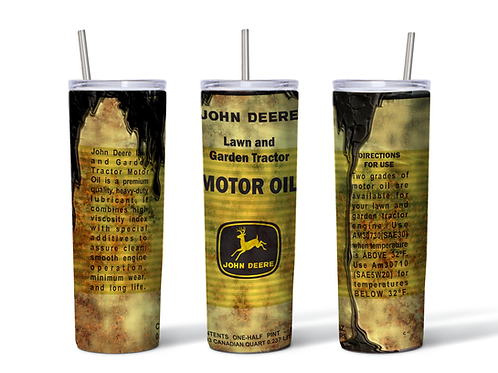 John Deere Oil Can grungy inspired