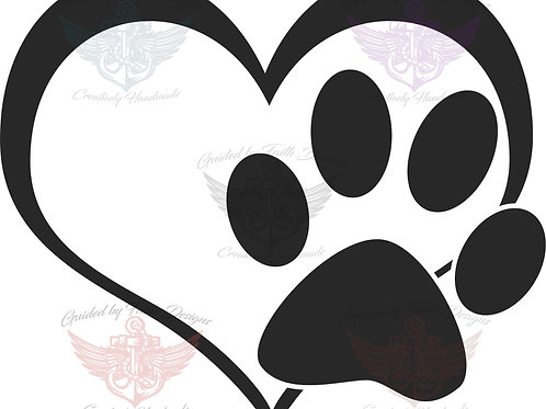Heart with Paw