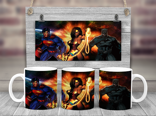 Justice League Trinity Coffee Mug