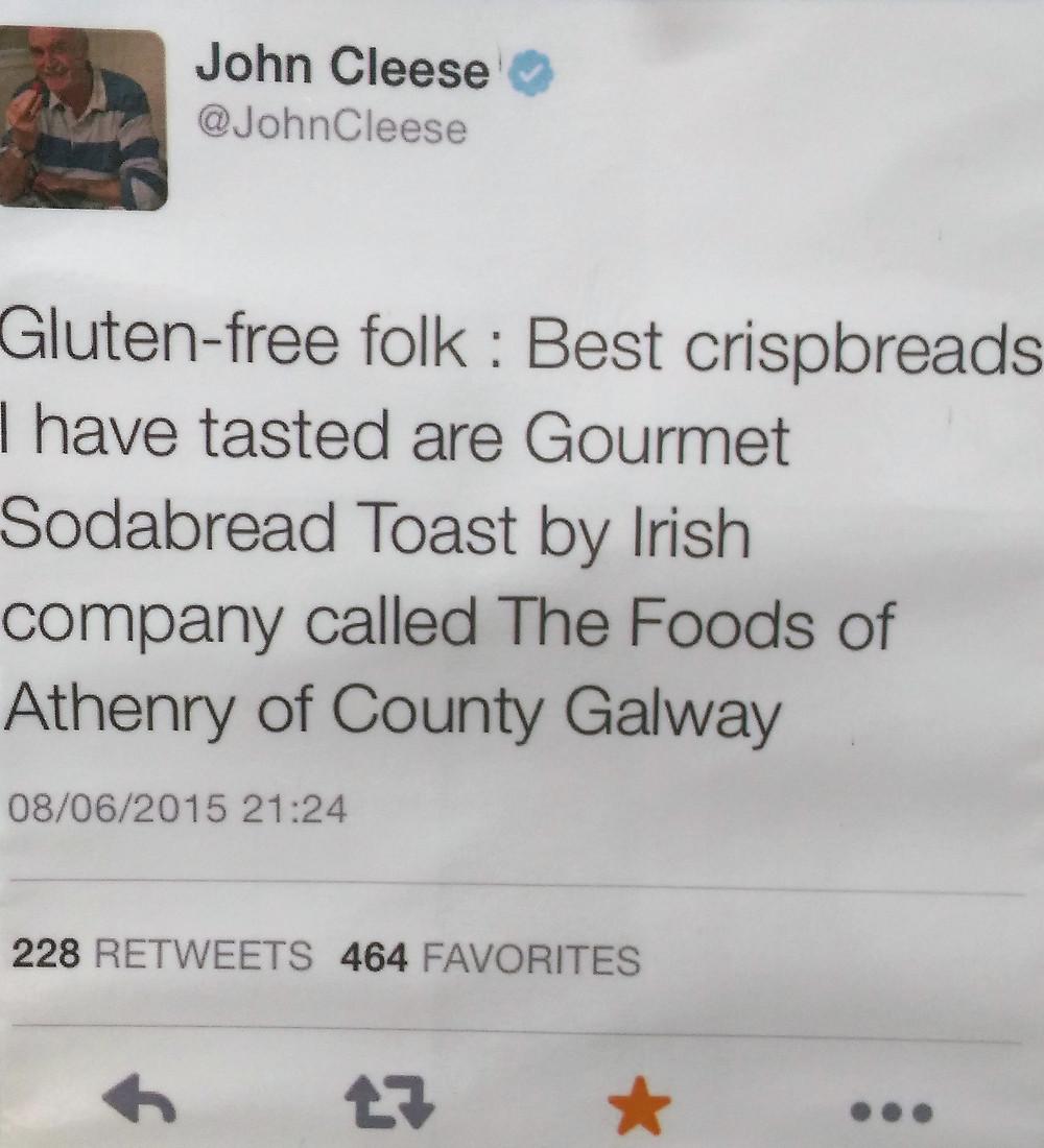 a tweet from john cleese