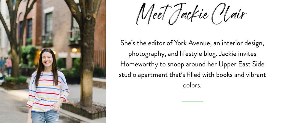 Snooping Around...in Jackie Clair's Upper East Side Studio Apartment