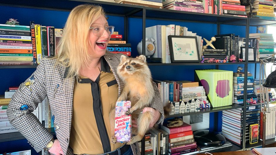 """Hilarious Chief Curator  of """"Poster House"""" Shows Off Her Wild and Racy New York City Apartment"""