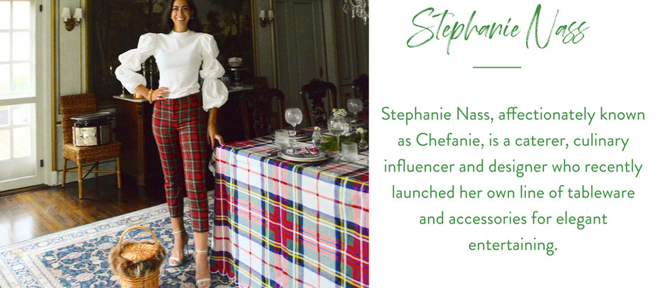 Set The Table With...Culinary Influencer Stephanie Nass who is Mad for Plaid this Holiday Season