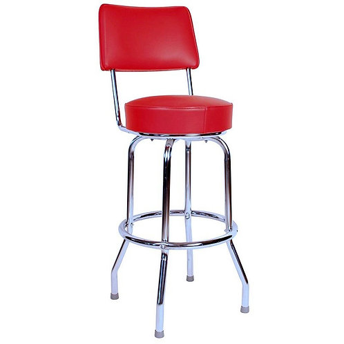 Single Ring Bar Stool with Back