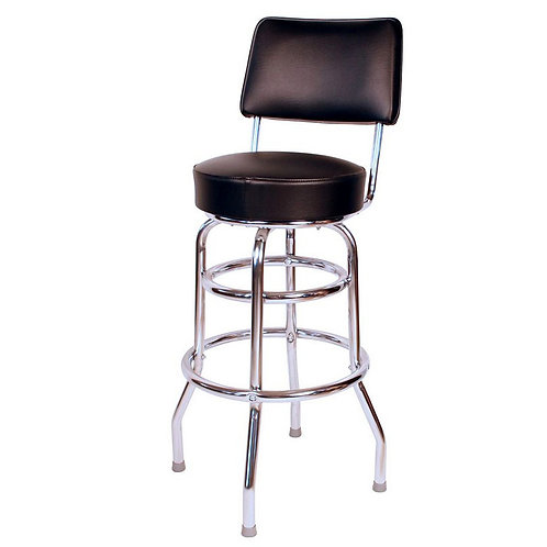 Double Ring Bar Stool with Back