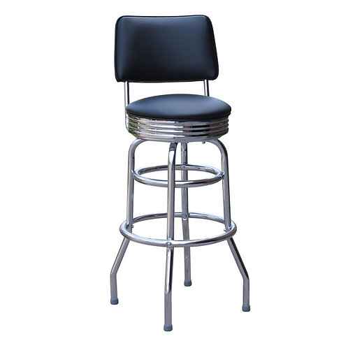Chrome Diner Stool with Back