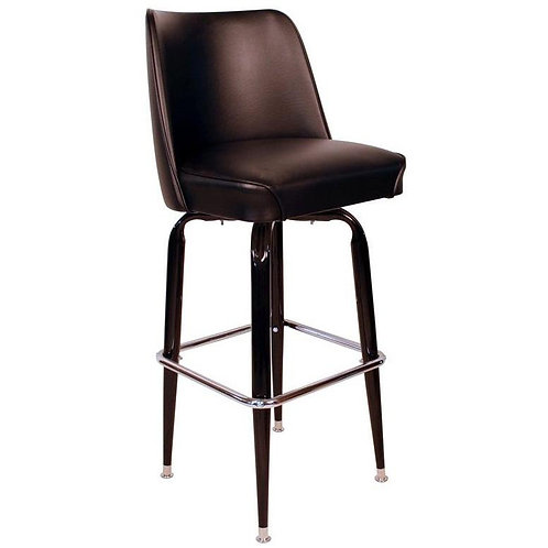 Pub Style Swivel Stool with Back