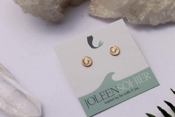 $15.00 - Mermaid Gold Filled Disc Studs