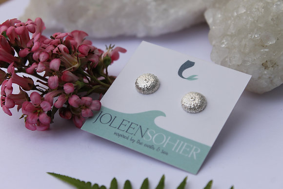 $30 - Recycled Silver Urchin Studs