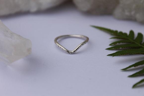 $14 - Notched Chevron Ring