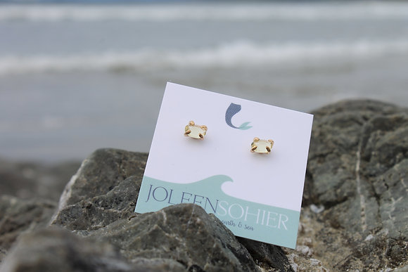 Lemon Quartz Claire Studs - Gold Filled