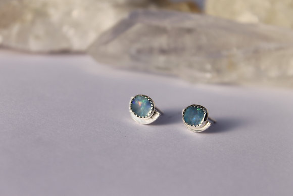 Lunar Reflection Opal Studs ii